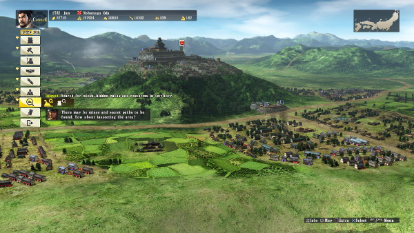 Nobunaga'sAmbition_Council_AduchiCastle_Town(Left_Side_View)
